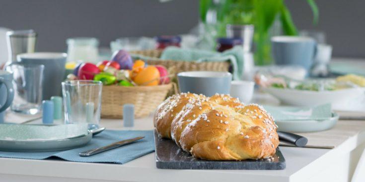Perfekter Oster Hefezopf wie vom Bäcker