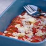 Tomatensalat mit Zitronen Öl Dressing