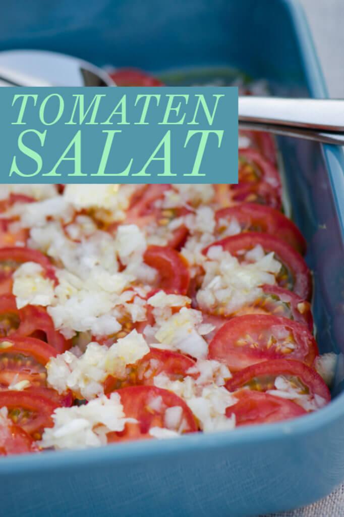 So schmeckt der Sommer - Tomatensalat mit Zitronen Öl Dressing