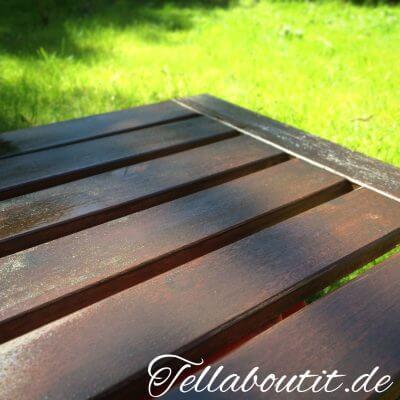 Gartenmöbel lasieren – mit IKEA Holzlasur