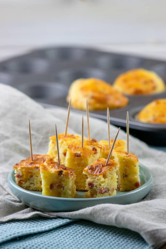 So lecker - herzhafte Kuchen sind sowieso die besten - Käse Schinken Muffins lieben wirklich alle