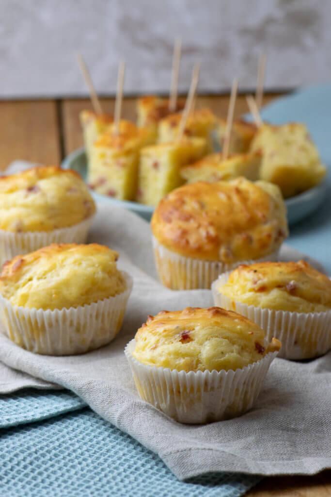 Alle lieben diese Käse Schinken Muffins