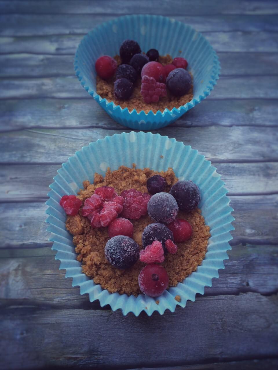 Cheesecake Muffins mit Himbeeren