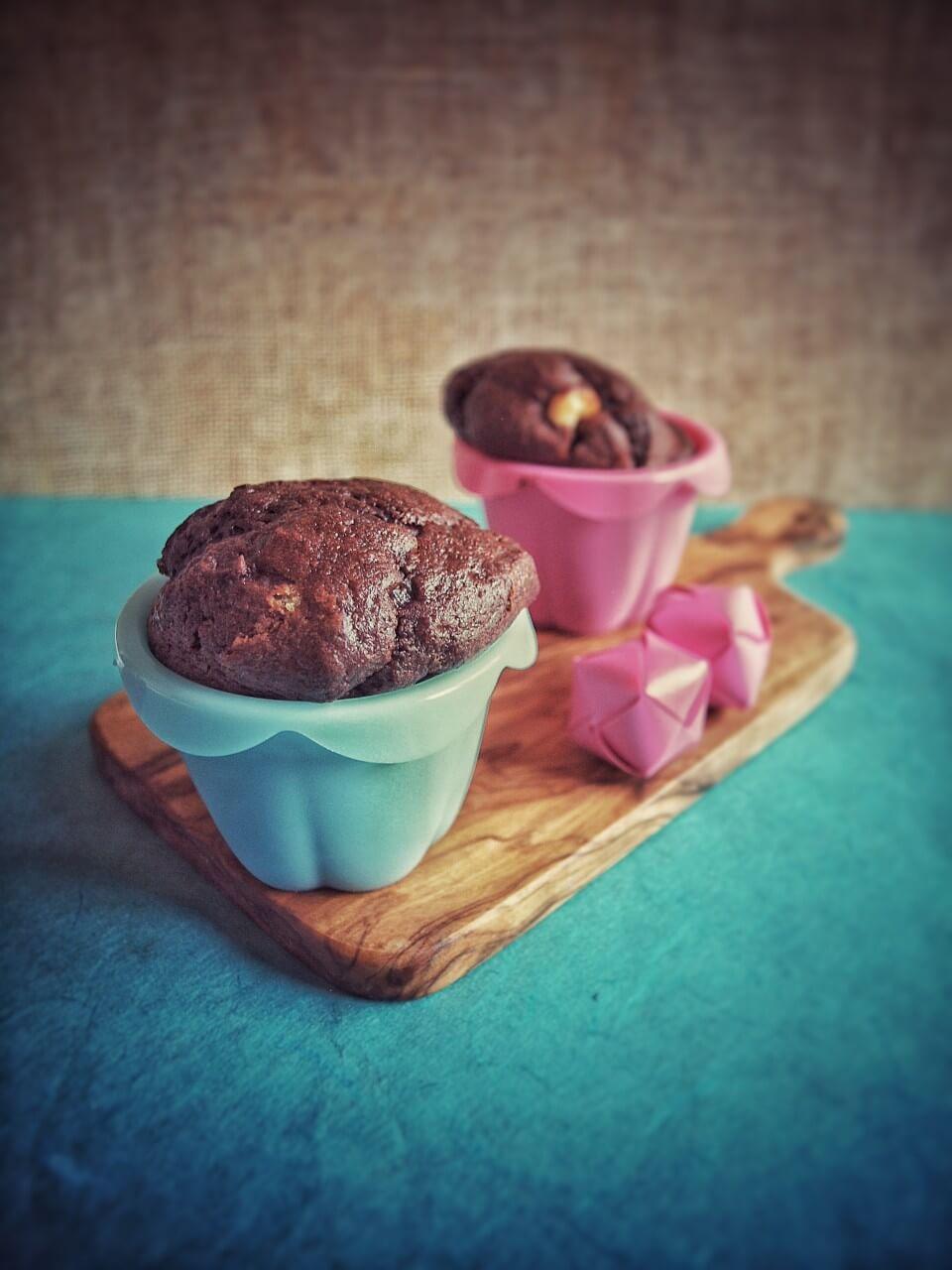 Chocolate Muffins mit Frischkäse