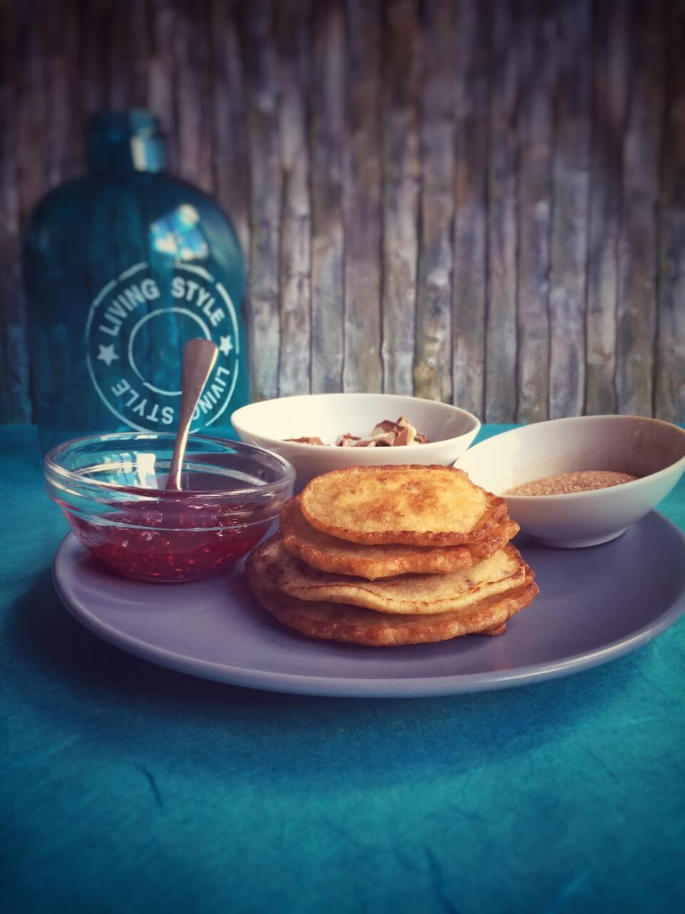 Amerikanische Pancakes mit Dinkel und Mandelmilch