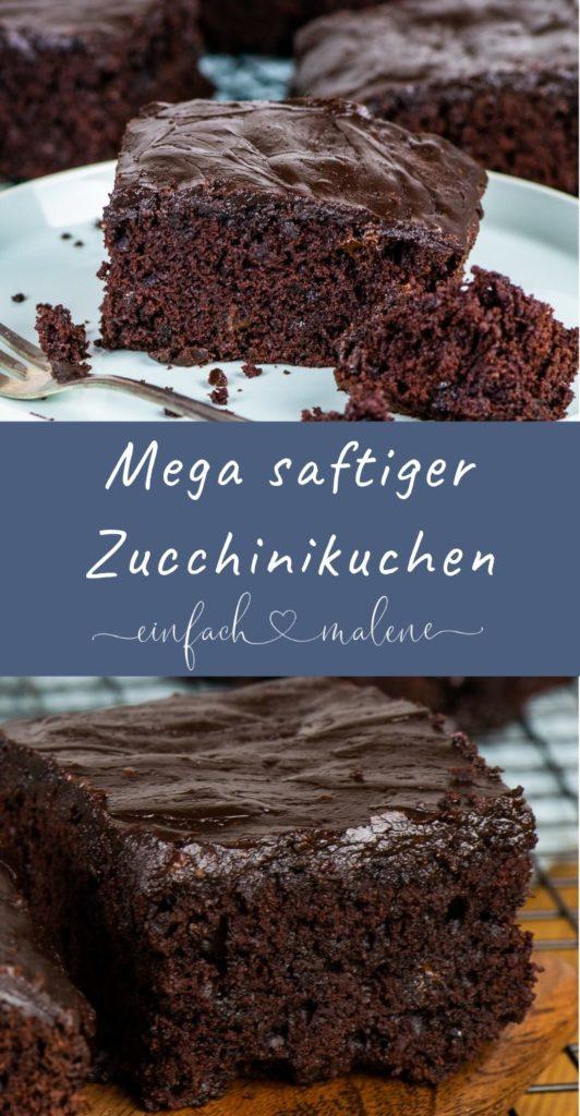 Suchst du ein Rezept für Zucchini Kuchen? Dann probiere unbedingt diesen einfachen und mega saftigen Schokoladen Zucchini Kuchen aus!