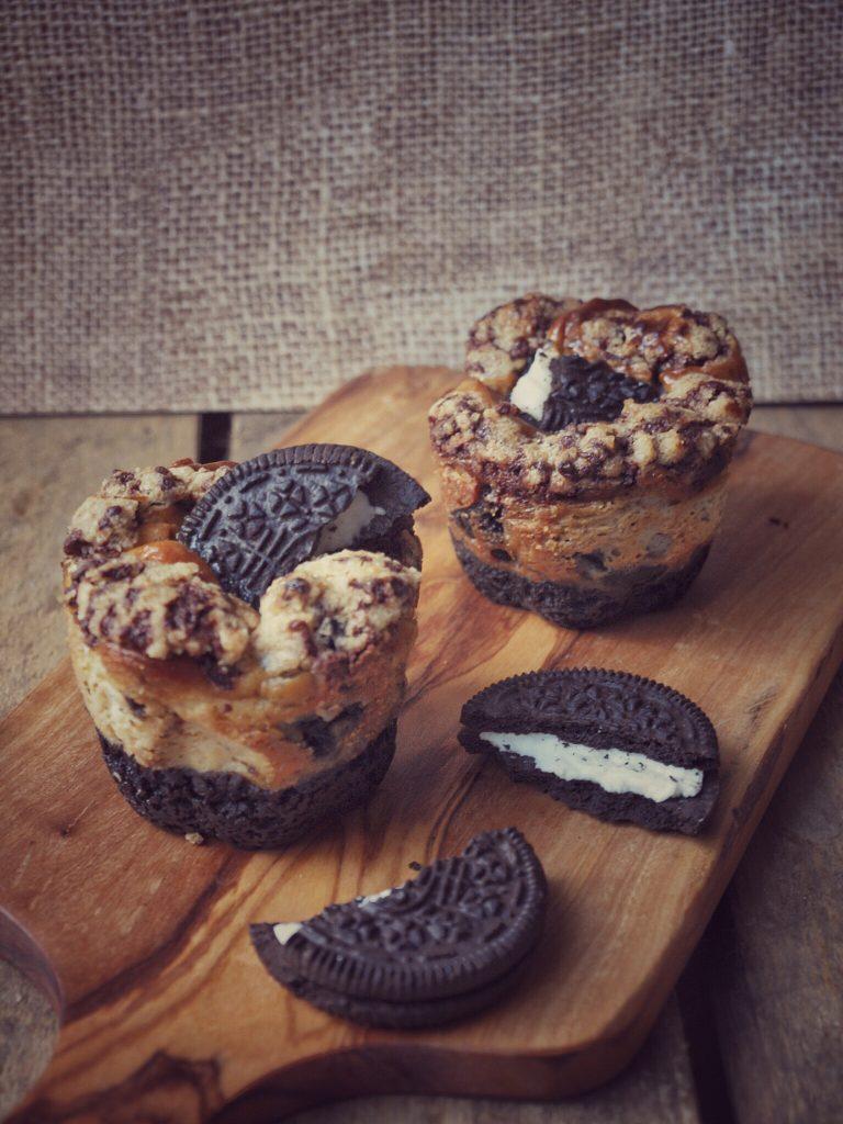 Oreo Cheesecake Muffins mit viel Oreo