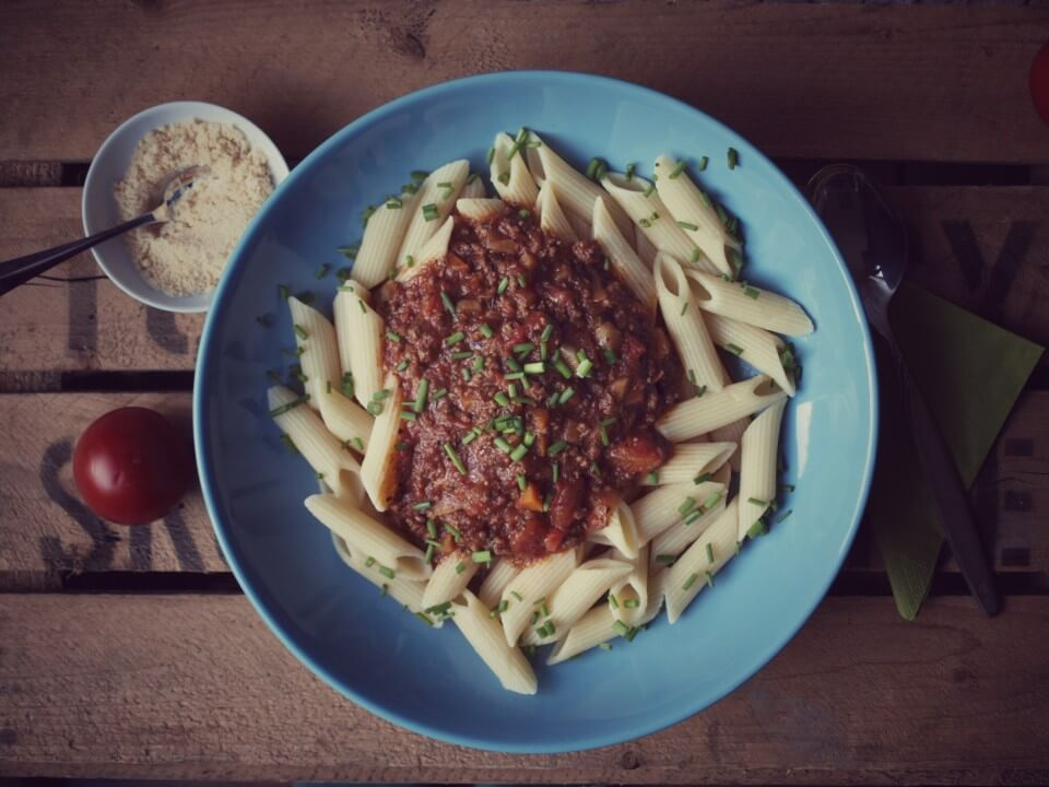 Pasta mit Bolognese