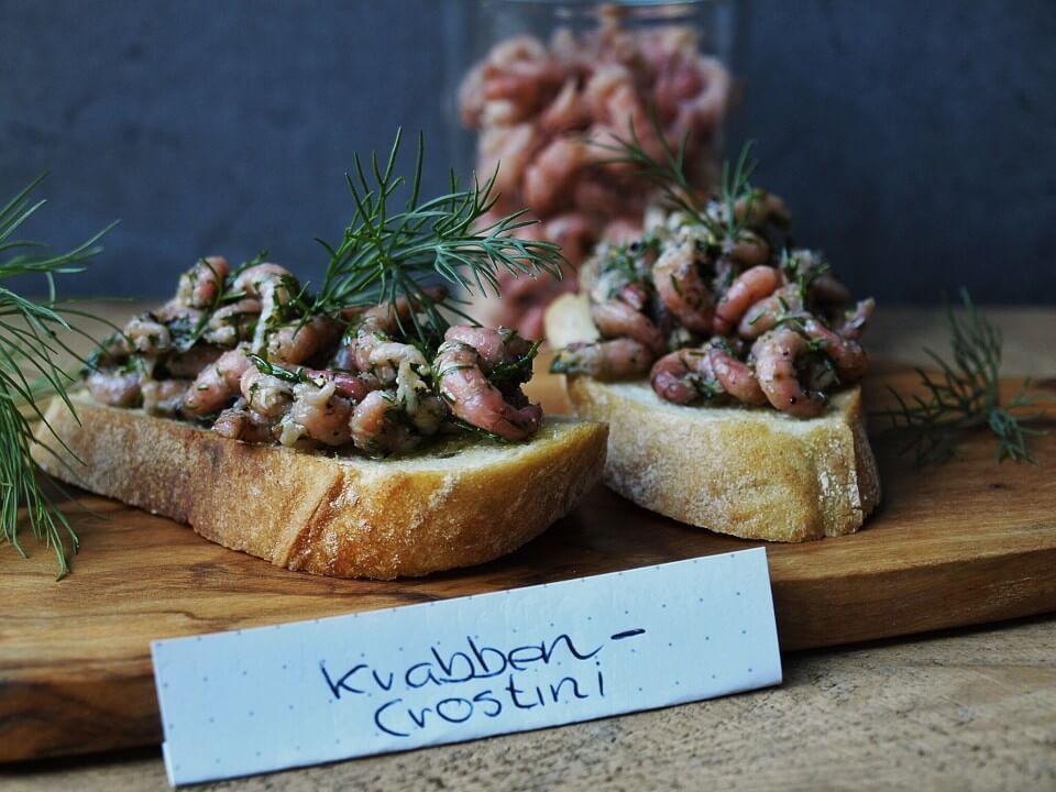 Krabben Crostini