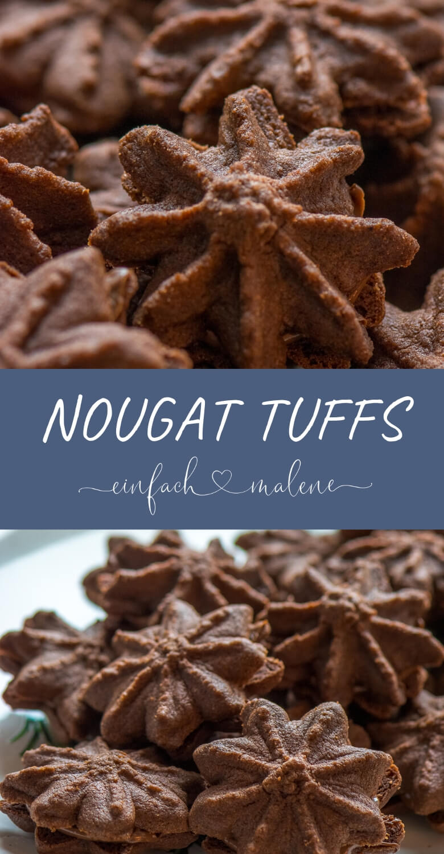 Nougat Tuffs - die besten Nutella Weihnachtskekse, schokoladig, Rezept von Dr. Oetker - absoluter Liebling zu Weihnachten - jetzt auch für den Thermomix.