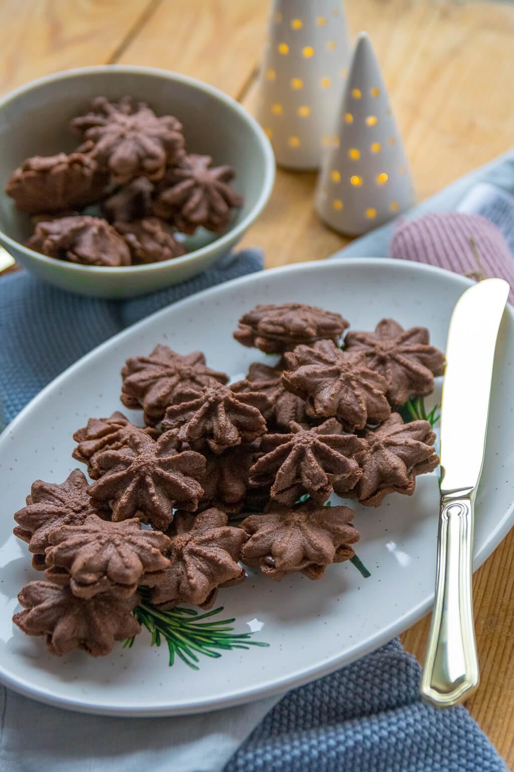Wir backen die Kekse nach einem Ursprungsrezept von Dr. Oetker - Nougat Tuffs