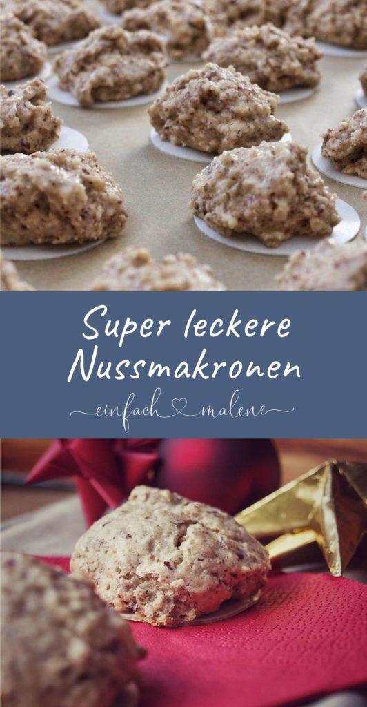 Nussmakronen mit Mandeln - viele Kekse werden nur mit Eigelb gebacken - aber wohin mit dem Eiweiß? Hier das ideale Rezept um Eiweiß sinnvoll zu verwerten!