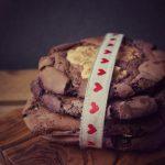 Erdnussbutter Kekse mit extra viel Schokolade und Dinkelmehl