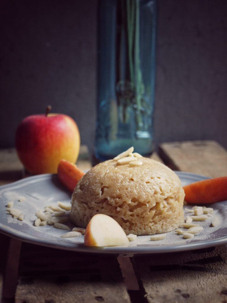 Mikrowellen Kuchen - Apfel Kuchen mit Dinkelmehl