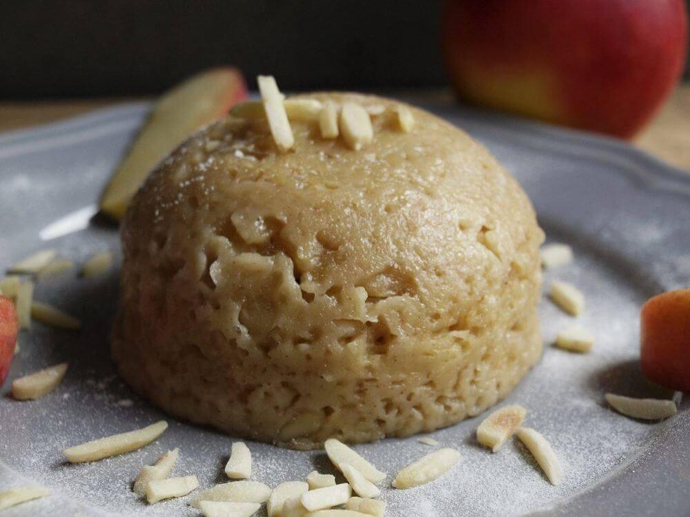 Mikrowellenkuchen - Apfel Kuchen mit Dinkelmehl