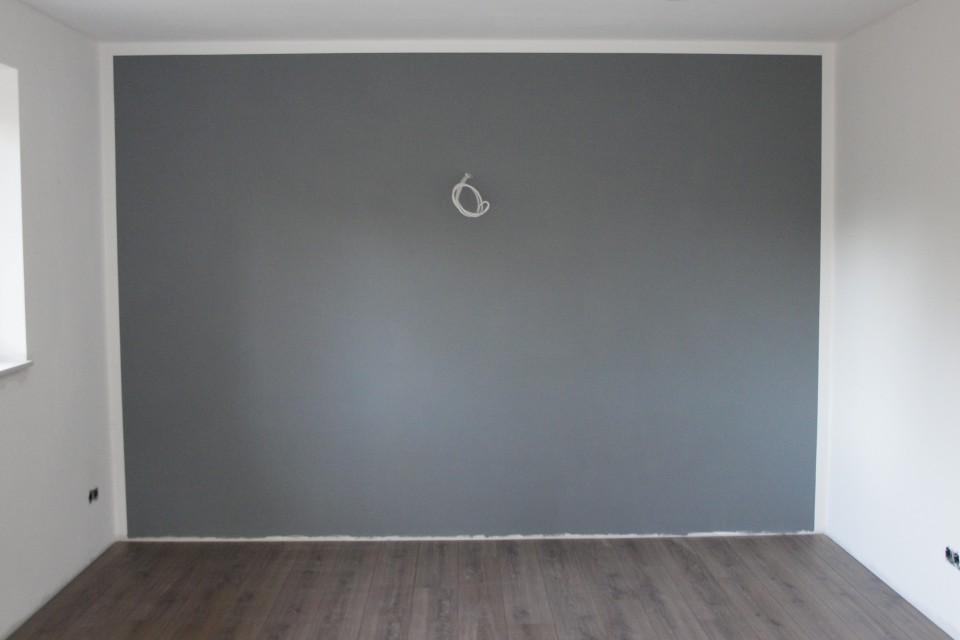 Wohnzimmer ideen wand streichen grau  Wohnzimmer ideen wand streichen grau ~ Ideen für die ...