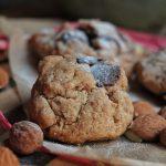 Tahini Kekse – Dinkel Cookies mit Sesam, Mandeln und Schokolade