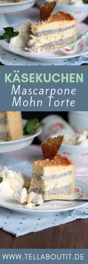 Der etwas andere Käsekuchen - Die Mascarpone-Mohn-Torte - unglaublich lecker und super hübsch. Eure Gäste werden begeistert sein.  Da kommt einfach zusammen, was zusammen gehört.