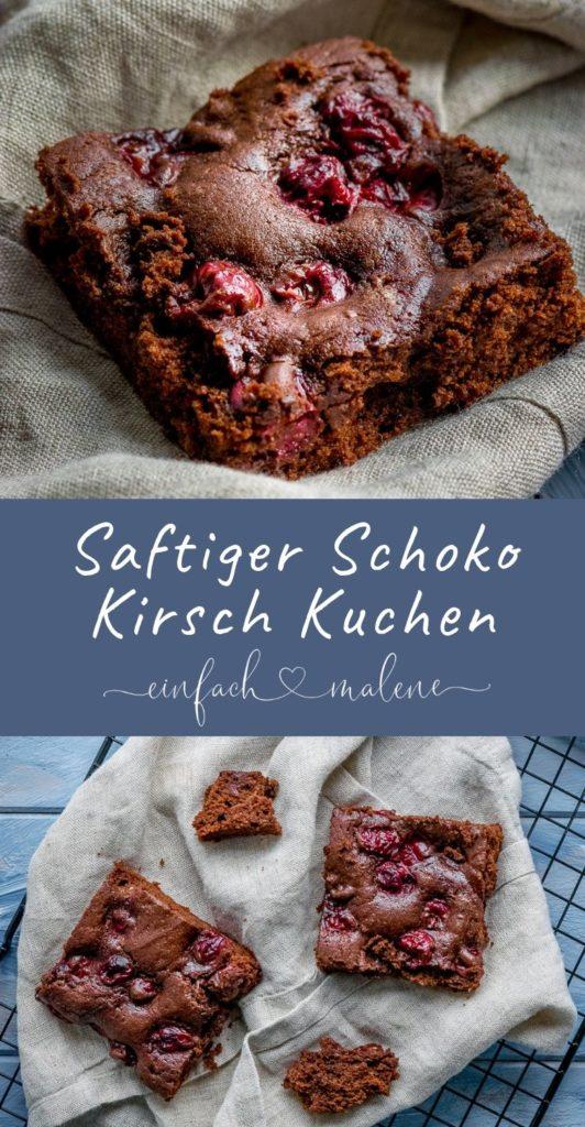 Großartiges Rezept für alle Schokoladen Fans! Dieser saftige Schokokuchen mit Kirschen wird mit flüssiger Schokolade gebacken und eigenes sich sowohl für die Backform als auch für ein Blech. Köstlich!