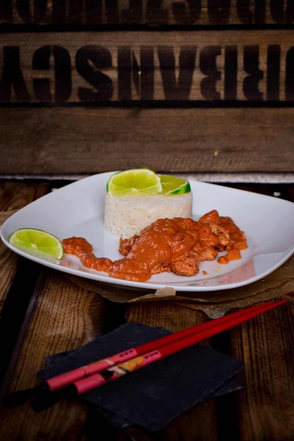 Rezept für Tandoori Chicken - Limetten Huhn in Joghurt