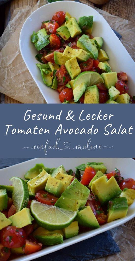Geniales Rezept für Avocado Tomaten Salat, super erfrischend mit Limette & Petersilie, lässt sich mit wenige Handgriffen schnell zubereiten. Gesund & Lecker #salate #vegetarisch #sommer
