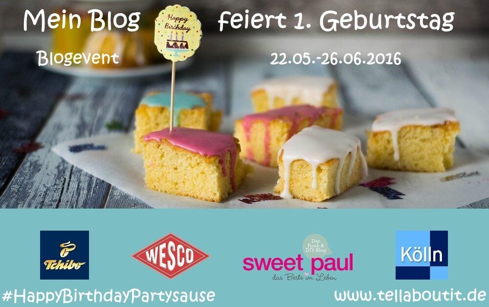 Banner Blogevent auf www.tellaboutit.de #HappyBirthdayPartySauce