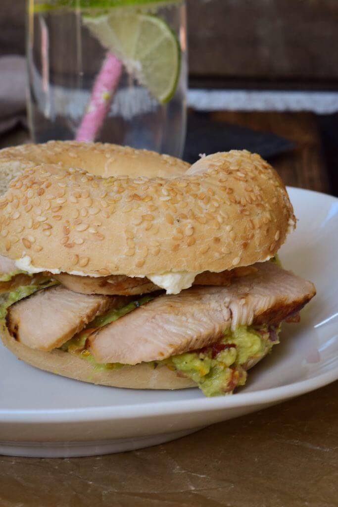 Chicken Guacamole Bagel