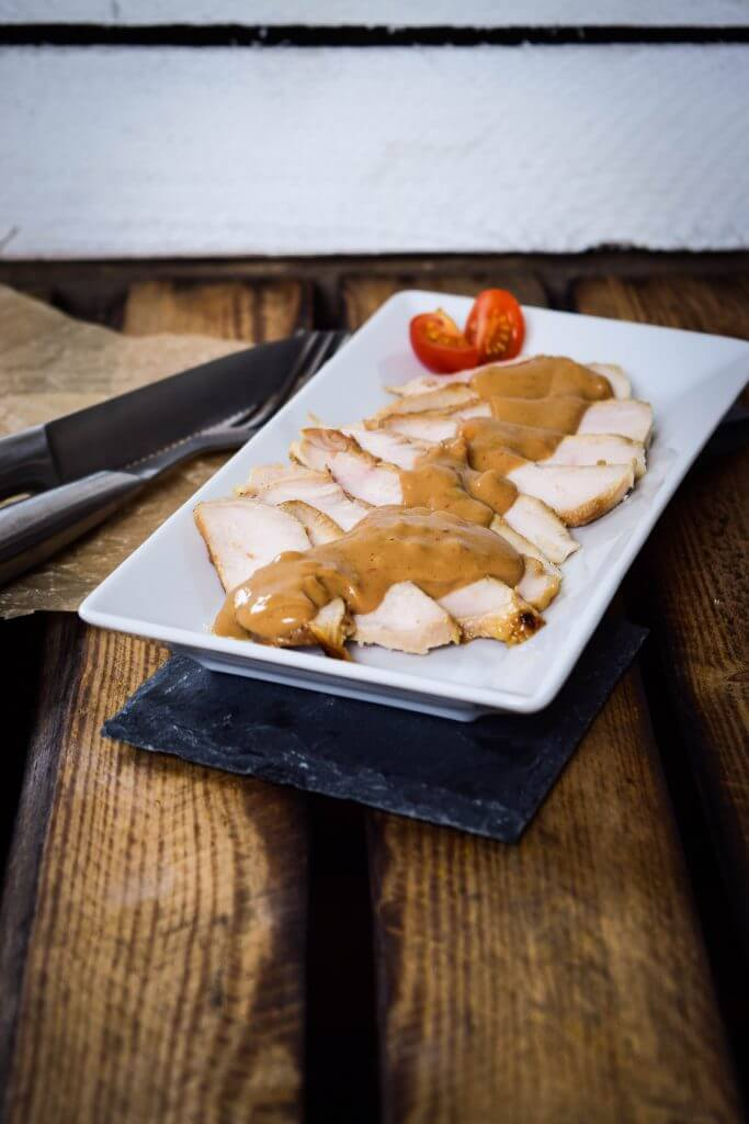 Chicken Teriyaki und Erdnusssauce