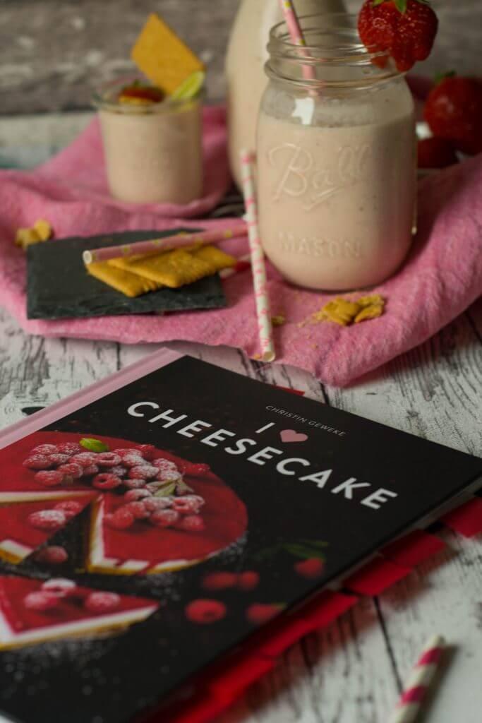 Vanilla Strawberry Cheesecake Shake