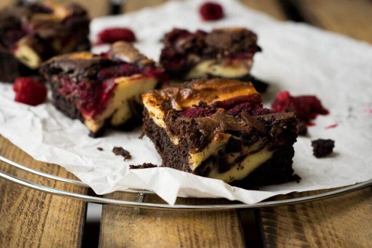 Himbeer Cheesecake Brownies