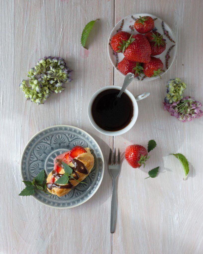 Erdbeereclairs