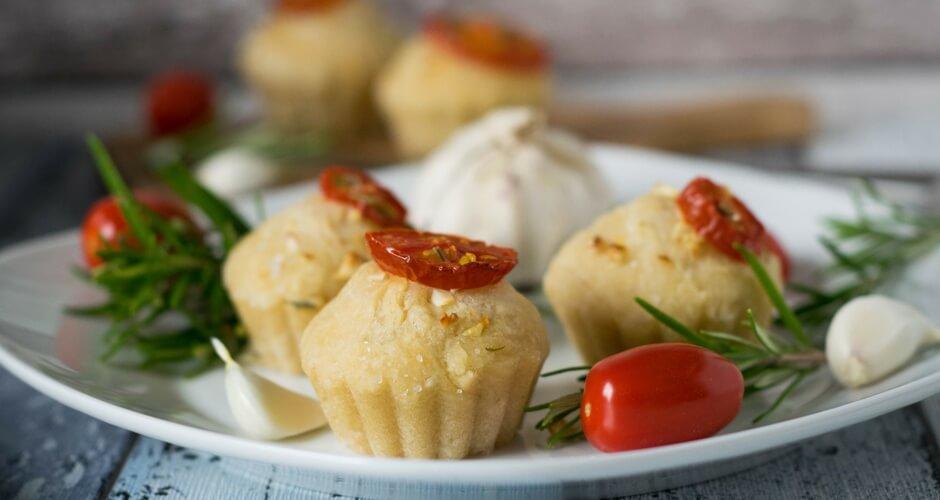 Rezept für die Gartenparty und Foccacia Muffins