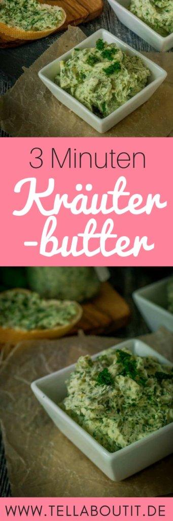 Dieses Rezept für Kräuterbutter mit Knoblauch ist perfekt für Raclette oder für das nächste Grillevent im Sommer. In nur 3 Minuten ist diese einfache Kräuterbutter bereit zum essen. Perfekt zum Einfrieren, dann ist immer eine Portion auf Vorrat.