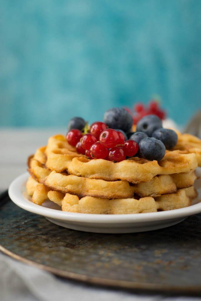 Food Foto Waffeln und Früchte