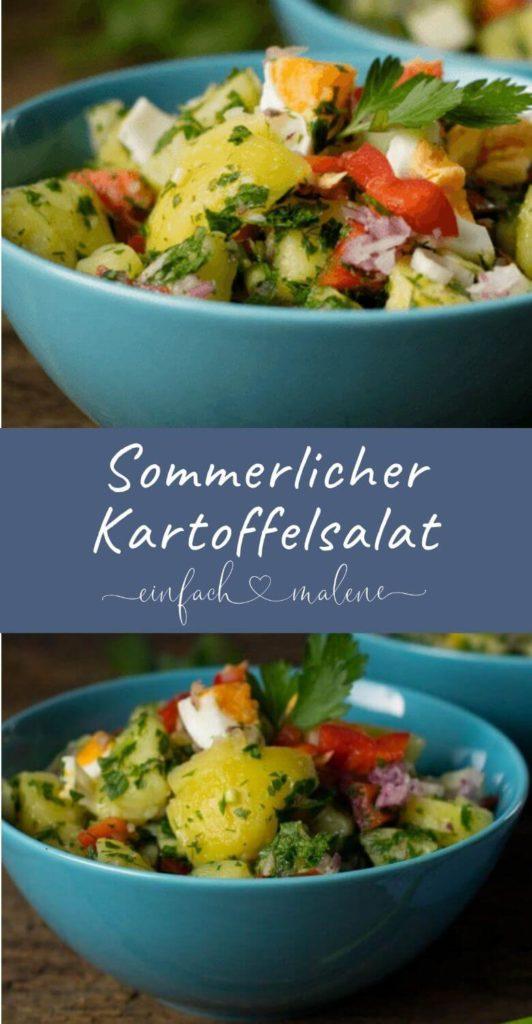 Super lecker - türkischer Kartoffelsalat & Sommerfeeling pur. Dieser Salat ist einfach grandios. Super frisch und mit Zitrone schmeckt dieser türkische Kartoffelsalat nach Sommer pur und sorgt für Urlaubsstimmung! #kartoffelsalat #grillen
