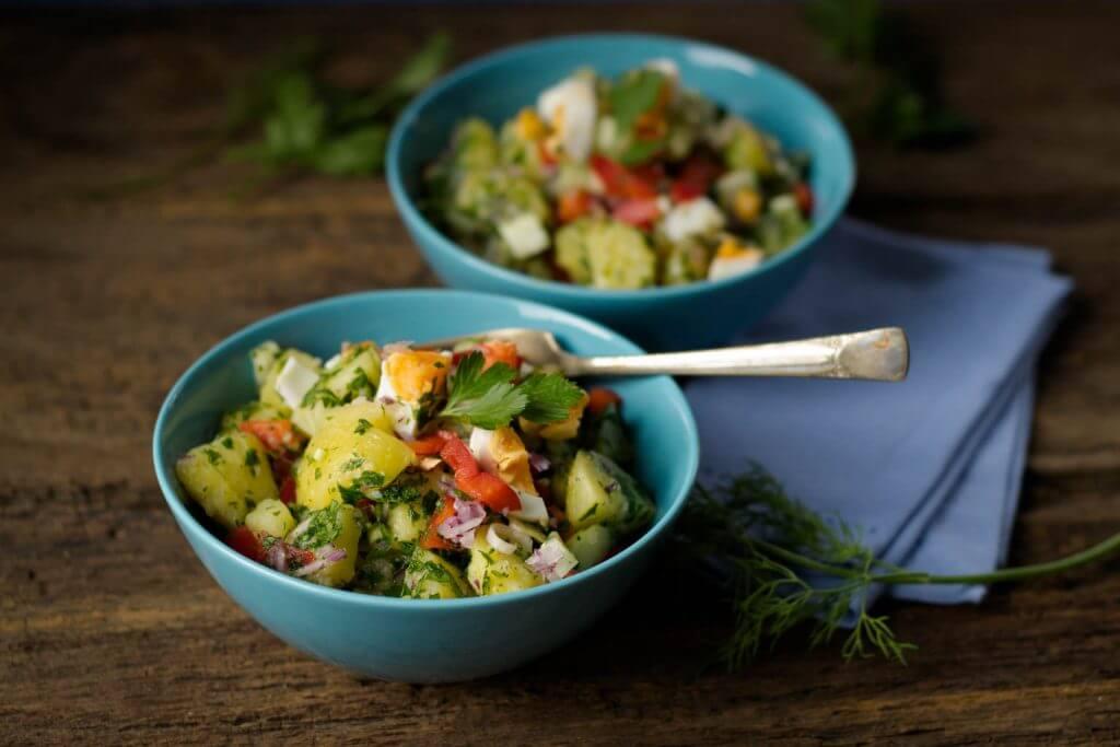 Türkischer Kartoffelsalat mit Sommerfeeling