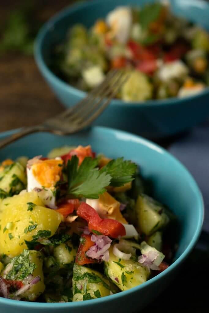 Rezept für einen grandiosen türkischen Kartoffelsalat