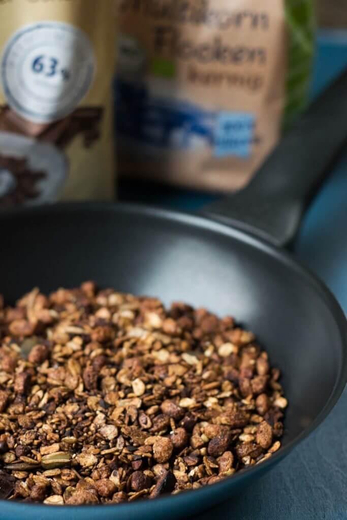 Rezept für selbstgemachtes Knuspermüsli