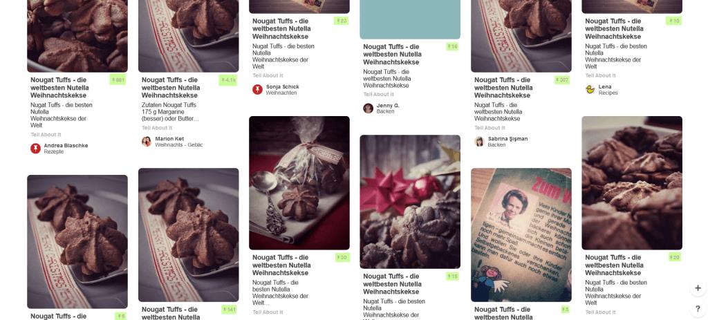 Pinnwände Nougat Tuffs bei Pinterest