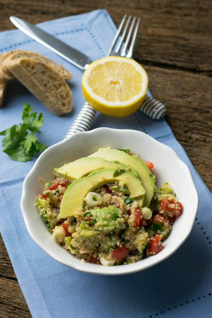 Super lecker, Quinoa Avocado Salat
