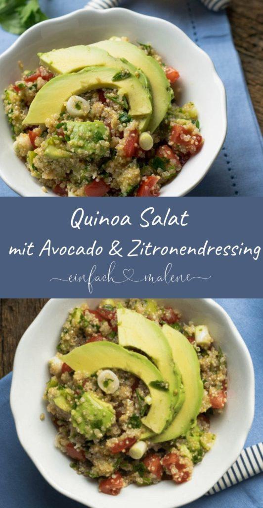 Sehr lecker und dazu noch gesund... Quinoa ist schon super genial. Aber mit Avocado und Tomaten kombiniert wird es ein echt Highlight. Das Rezept für Quinoa Avocado Salat ist super easy!