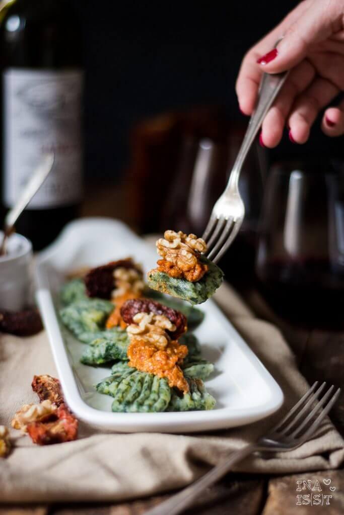 Super leckere Spinat-Gnocchi mit Walnusspesto