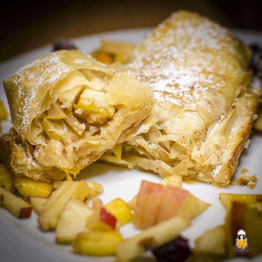Marzipan Liebe - Apfel-Marzipan-Strudel mit Cranberrys