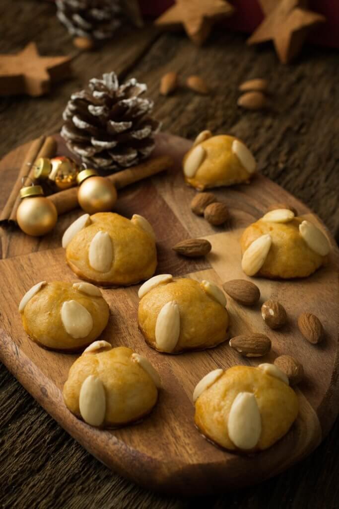 Weihnachtskekse mit Marzipan - Bethmännchen