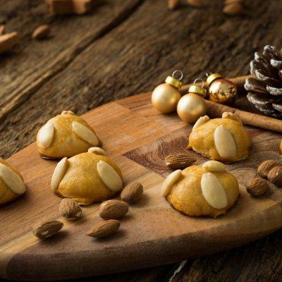 Weihnachtskekse mit Marzipan – Bethmännchen