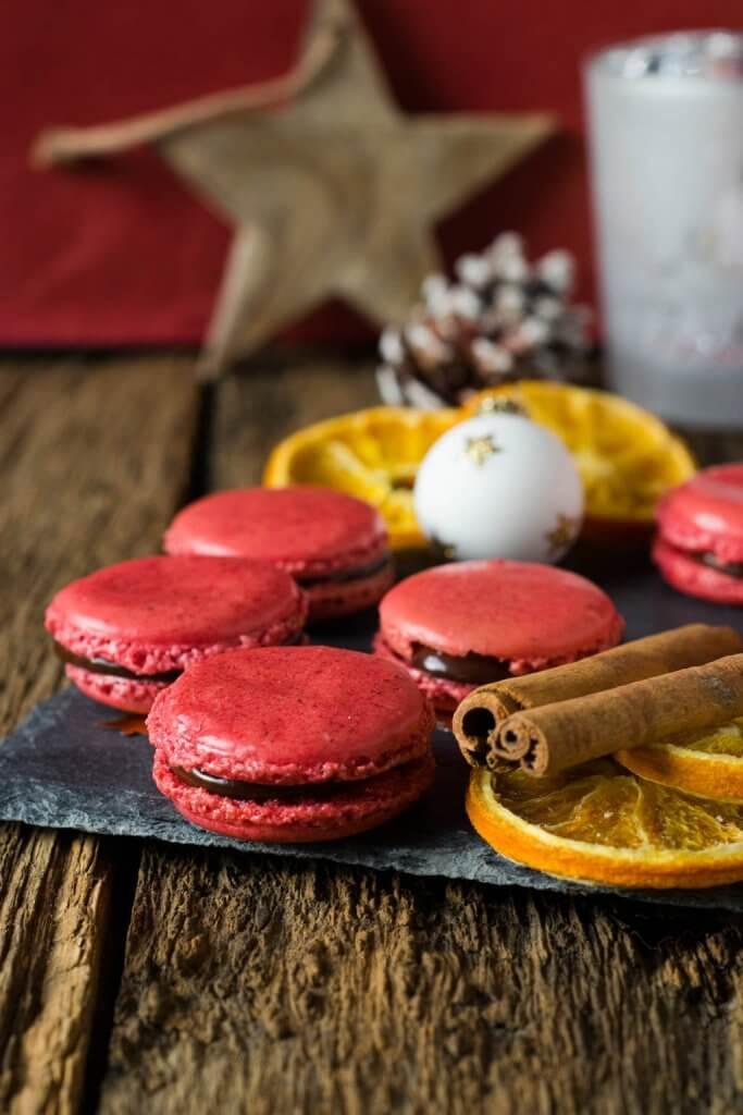 Rezept für Schoko Orangen Macarons - Weihnachtsmacarons
