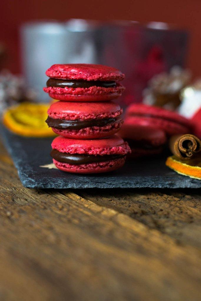 Weihnachtskekse mal anders - Weihnachtsmacarons - Schoko Orangen Macarons