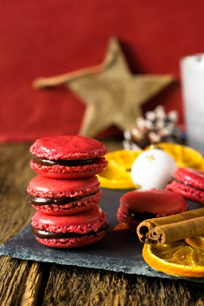 Super lecker - Weihnachtsmacarons - Schoko Orangen Macarons