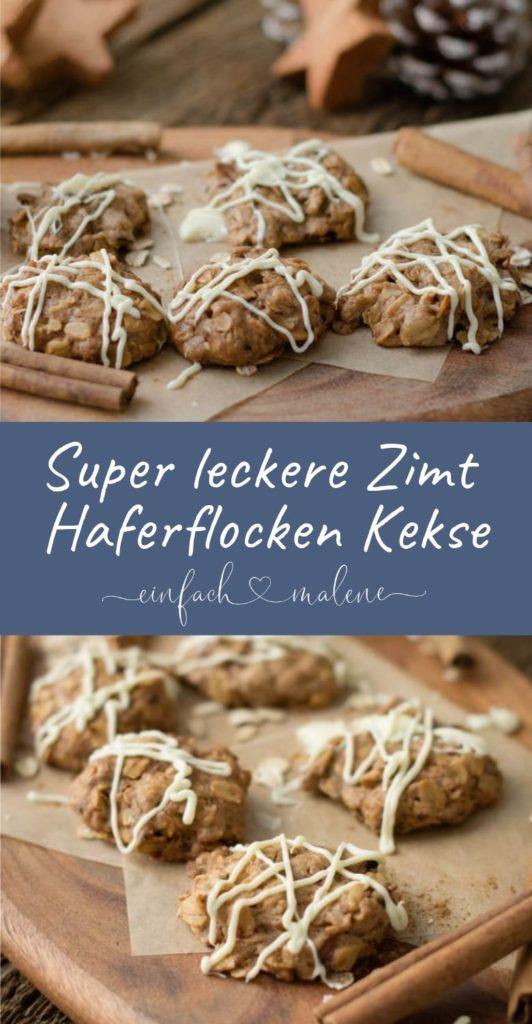 Haferflockenkekse gehen einfach immer!!! Mit diesen Zimt Cookies könnt ihr in die Adventszeit starten, denn die Cookies duften bereits beim Backen wunderbar nach Zimt - gelingen garantiert.!