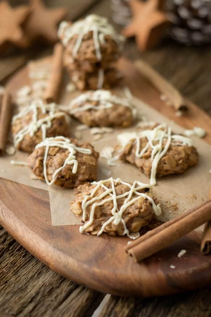Einfaches Rezept für Zimt Hafer Cookies